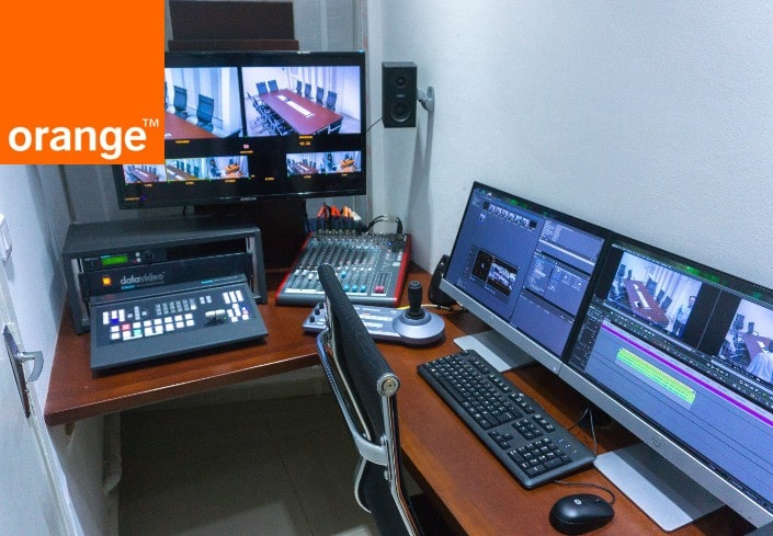 Installation audiovisuelle au CTC d'Orange à Douala