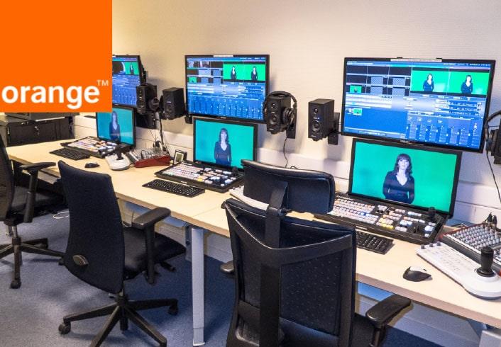 Installation audiovisuelle du Centre De test Client ORANGE à Rennes
